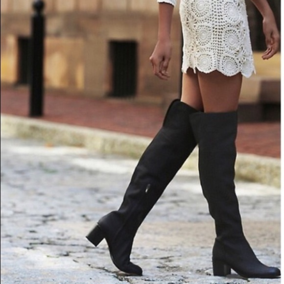 db2f9ee210c Sam Edelman Joplin Over the Knee Boots 8 BLACK. M 5b916e6b5c44523112a803c7